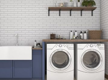 Woodcraft designs laundry cabinets